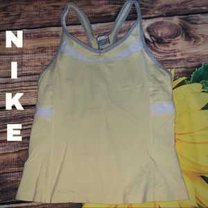 Nike Fit Dry yellow athletic top size s small